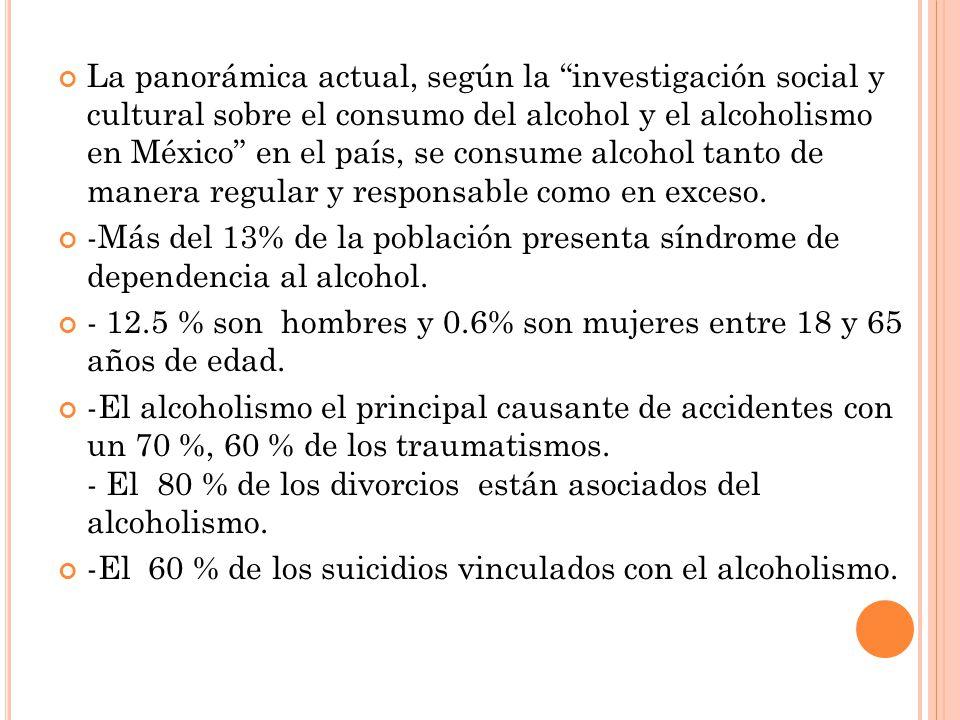 En este trabajo se pudo observar que el 100% de los jóvenes encuestados consumían algún tipo de bebida alcohólica y la edad de inicio en promedio fue a los 14 ± 2 años.