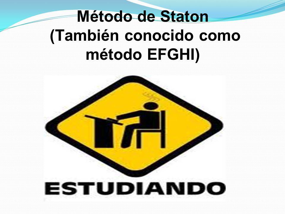 Método de Staton (También conocido como método EFGHI)