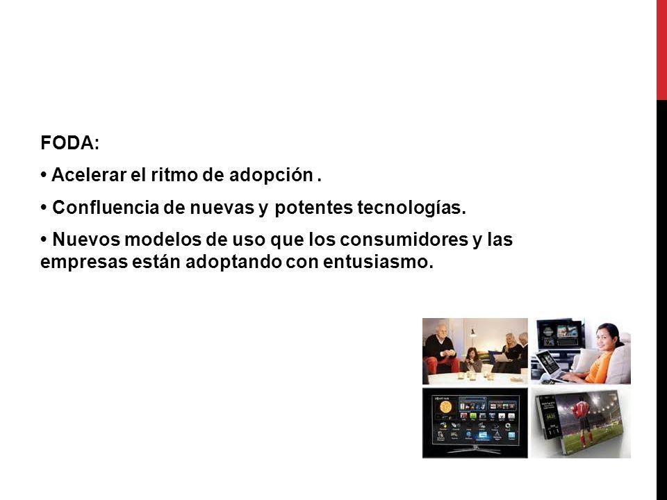 FODA: Acelerar el ritmo de adopción. Confluencia de nuevas y potentes tecnologías. Nuevos modelos de uso que los consumidores y las empresas están ado