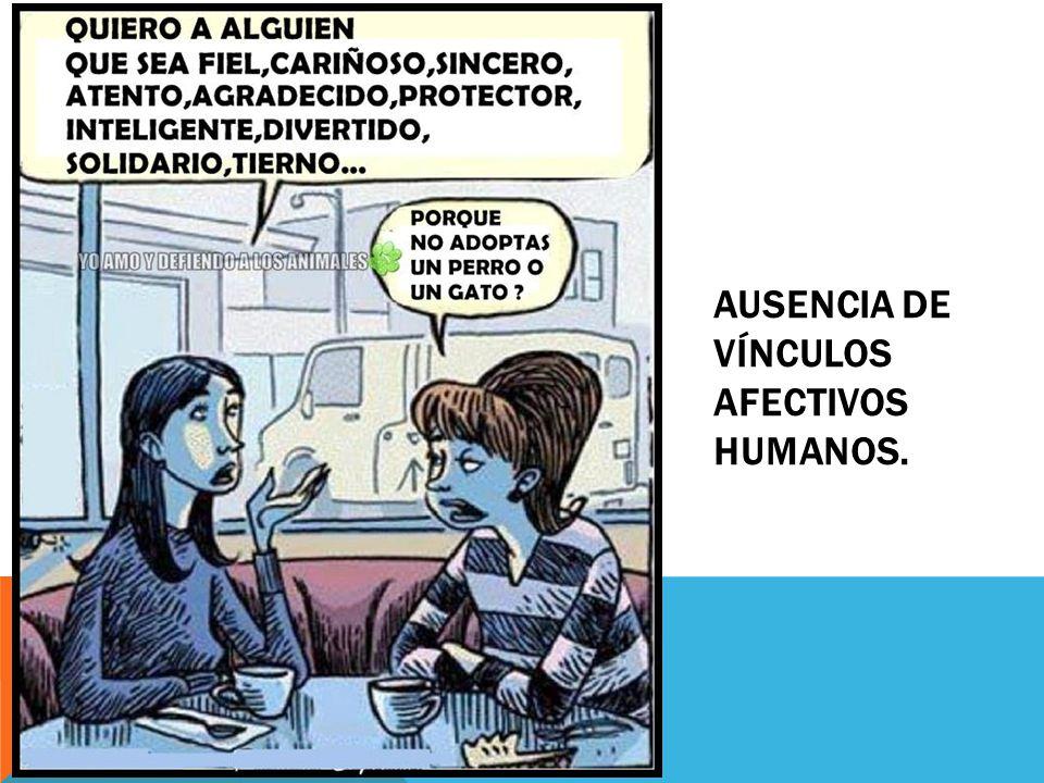 AUSENCIA DE VÍNCULOS AFECTIVOS HUMANOS.