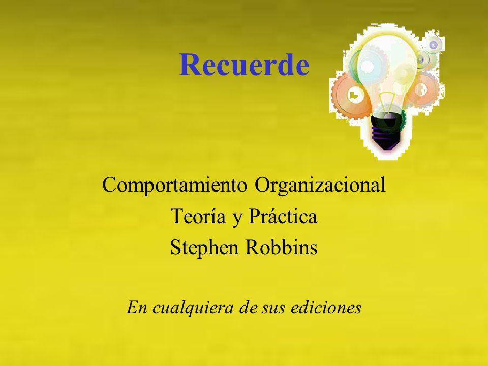 Comportamiento Organizacional Campo de estudio que investiga las repercusiones que los individuos, grupos y estructuras producen y ejercen sobre el comportamiento dentro de las organizaciones, con el propósito de aplicar los resultados para el mejoramiento de la eficacia de una organización.
