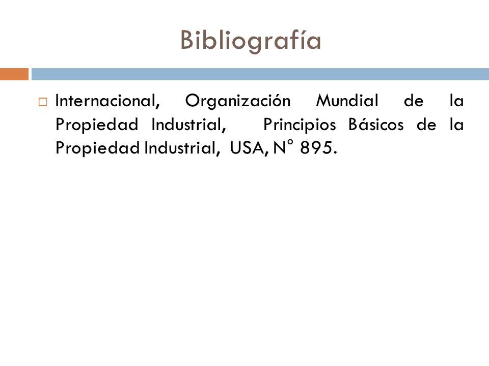 Bibliografía Internacional, Organización Mundial de la Propiedad Industrial, Principios Básicos de la Propiedad Industrial, USA, N° 895.