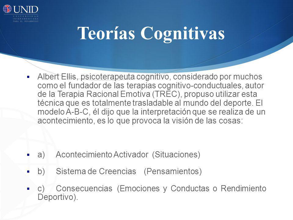 Teorías Cognitivas Albert Ellis, psicoterapeuta cognitivo, considerado por muchos como el fundador de las terapias cognitivo-conductuales, autor de la