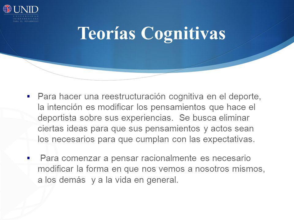 Teorías Cognitivas Para lograrlo seguiremos tres Pasos PASO 1.