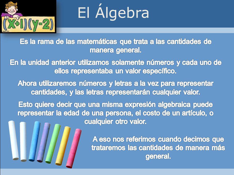 2) Trinomio: Polinomio que consta de tres términos algebraicos.