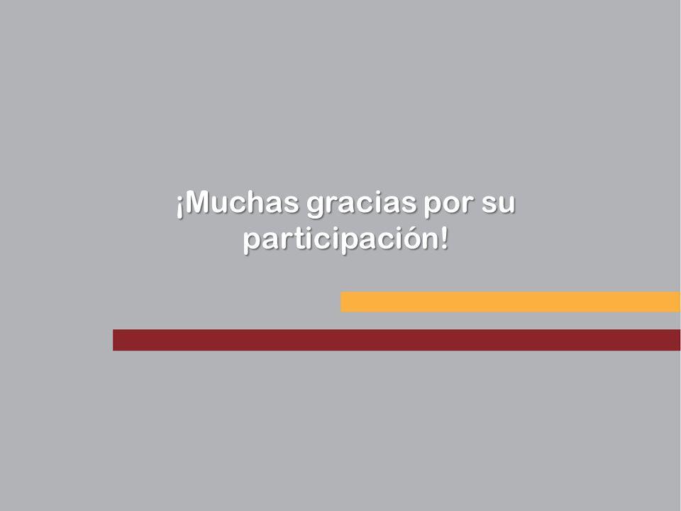 ¡Muchas gracias por su participación!