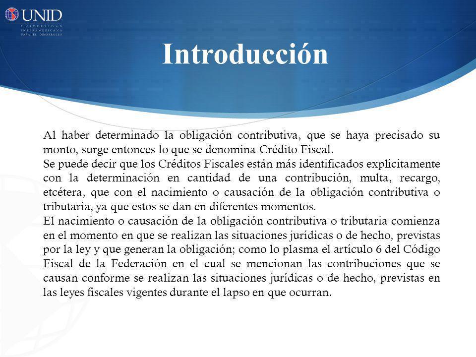 Creditos Fiscales ContribuciónMultaRecargo