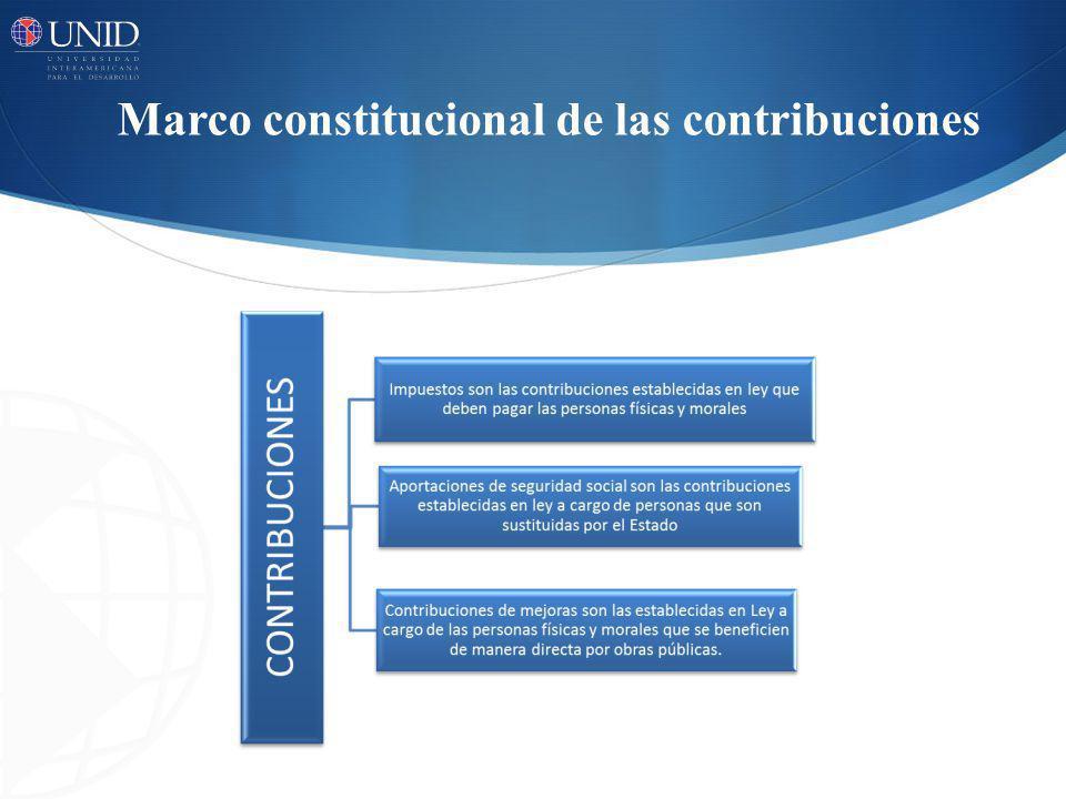 Marco constitucional de las contribuciones