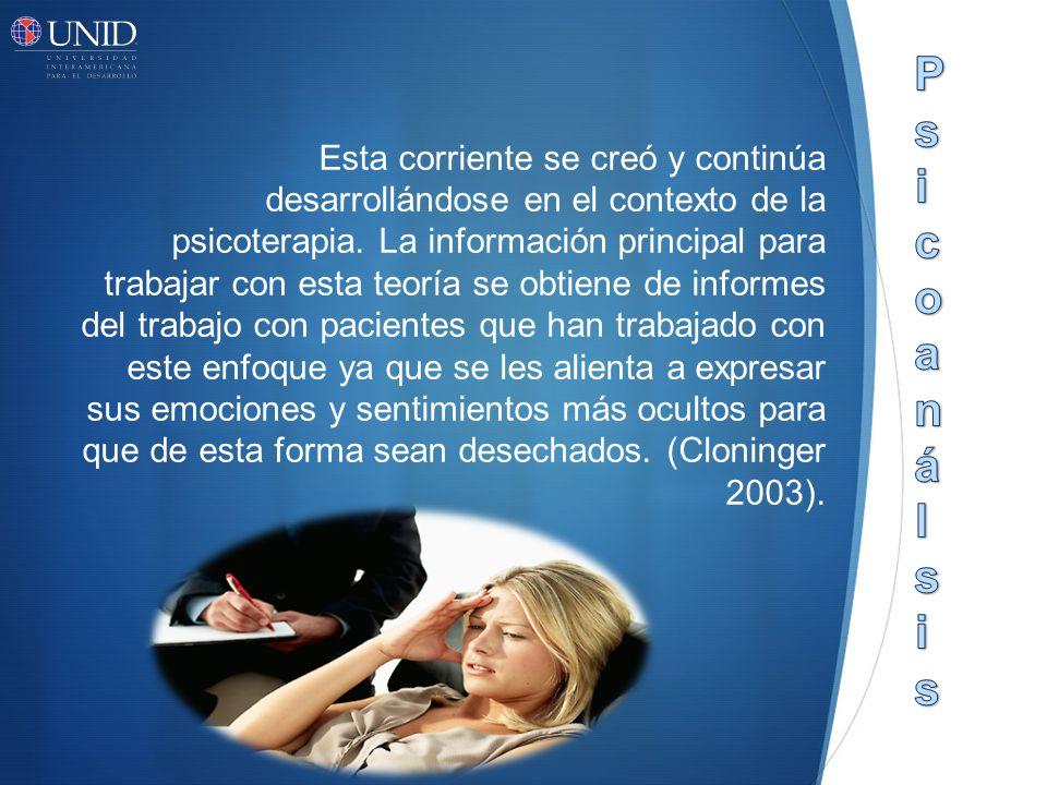 Esta corriente se creó y continúa desarrollándose en el contexto de la psicoterapia.
