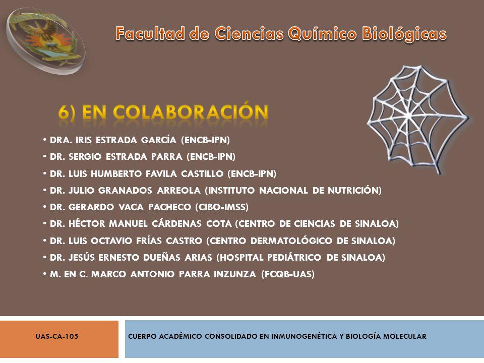 DRA. IRIS ESTRADA GARCÍA (ENCB-IPN) DR. SERGIO ESTRADA PARRA (ENCB-IPN) DR. LUIS HUMBERTO FAVILA CASTILLO (ENCB-IPN) DR. JULIO GRANADOS ARREOLA (INSTI