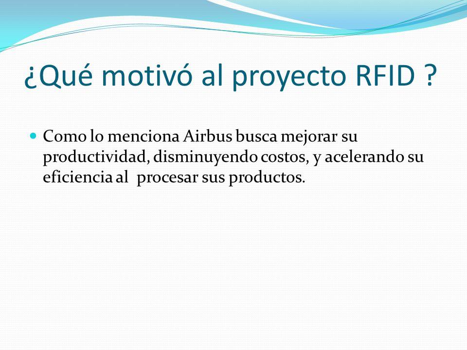 ¿Qué motivó al proyecto RFID .