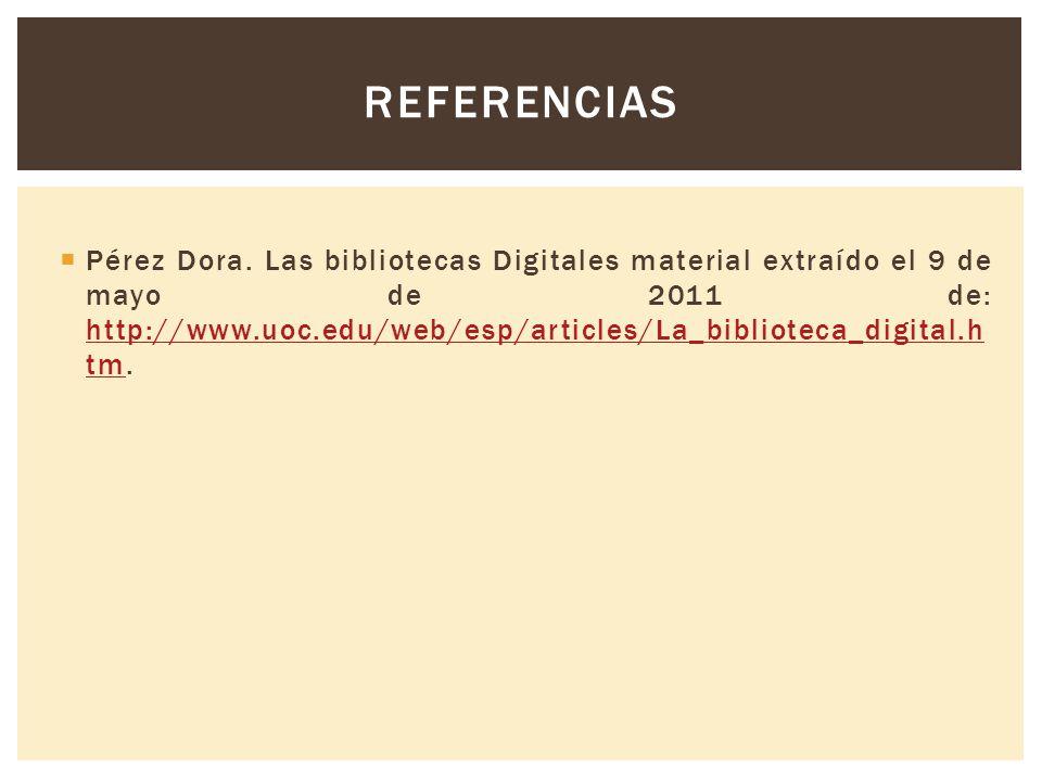 REFERENCIAS Pérez Dora.