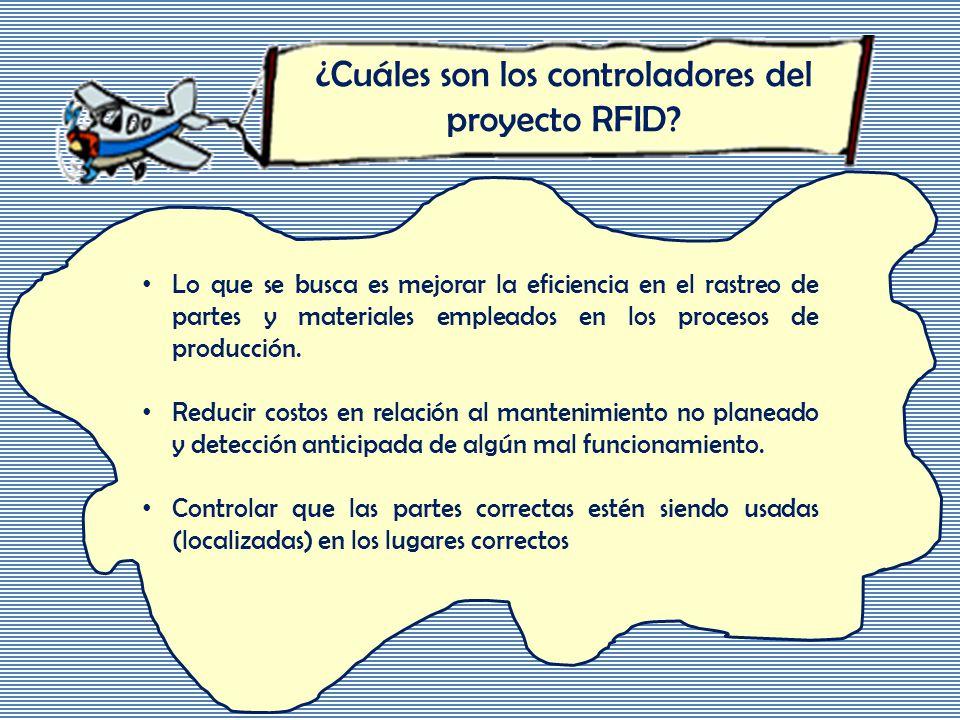 ¿Cuáles son los controladores del proyecto RFID.