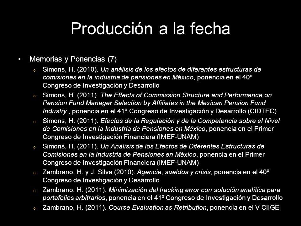 Memorias y Ponencias (7) o Simons, H. (2010).