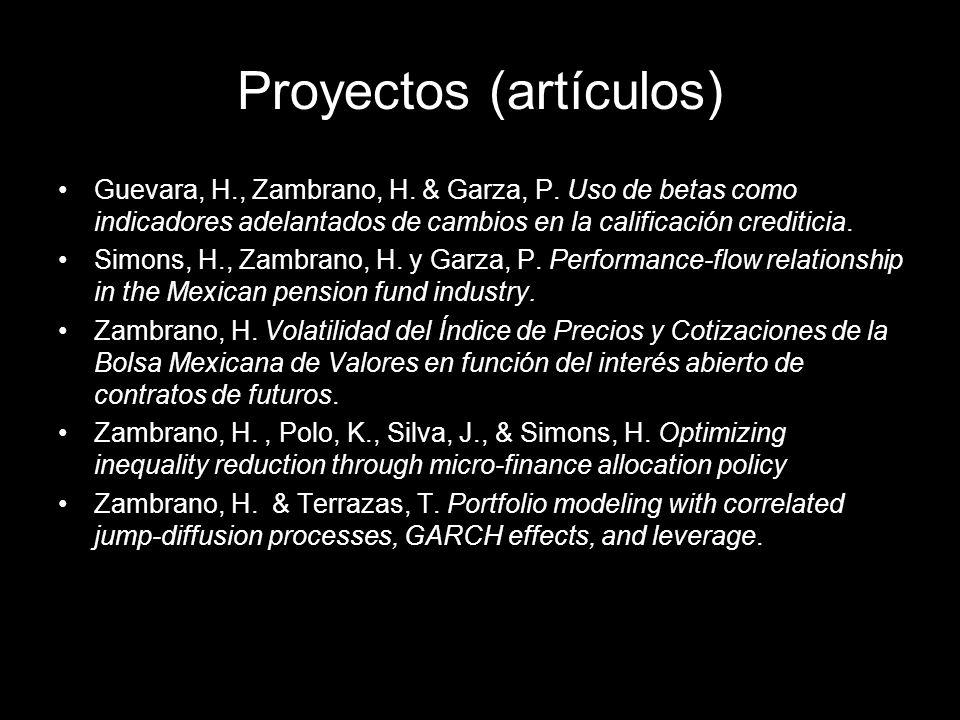 Guevara, H., Zambrano, H. & Garza, P. Uso de betas como indicadores adelantados de cambios en la calificación crediticia. Simons, H., Zambrano, H. y G