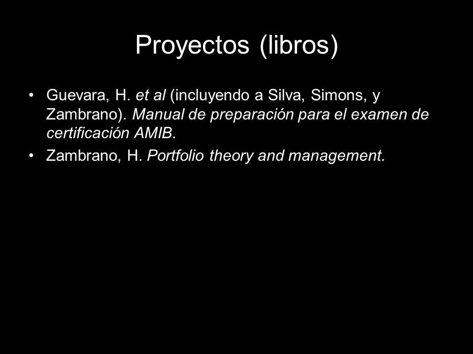 Guevara, H. et al (incluyendo a Silva, Simons, y Zambrano).