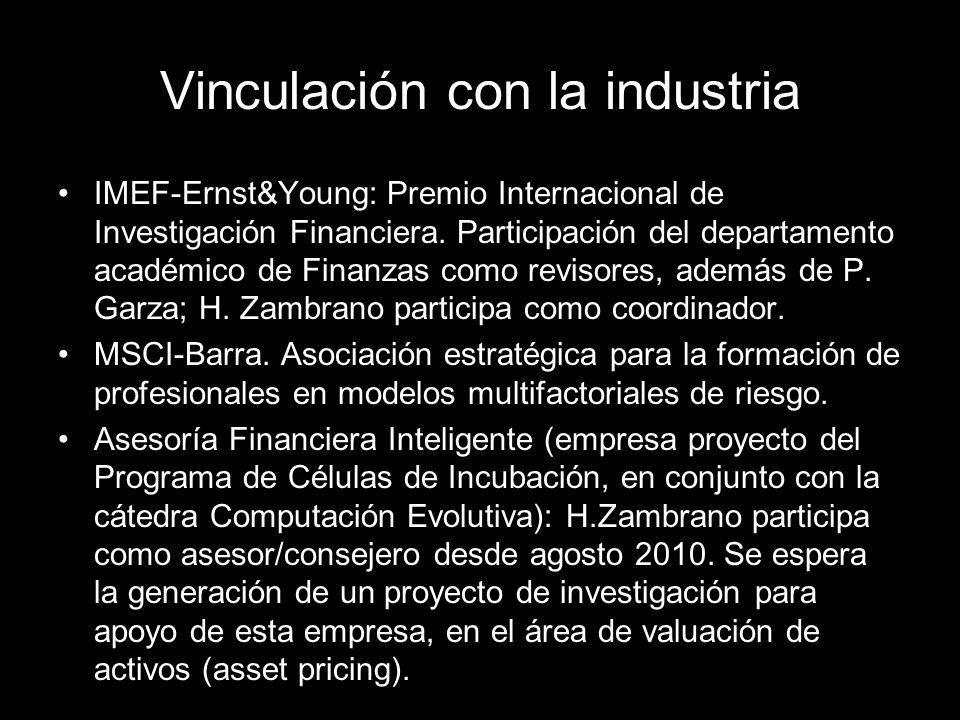 IMEF-Ernst&Young: Premio Internacional de Investigación Financiera.