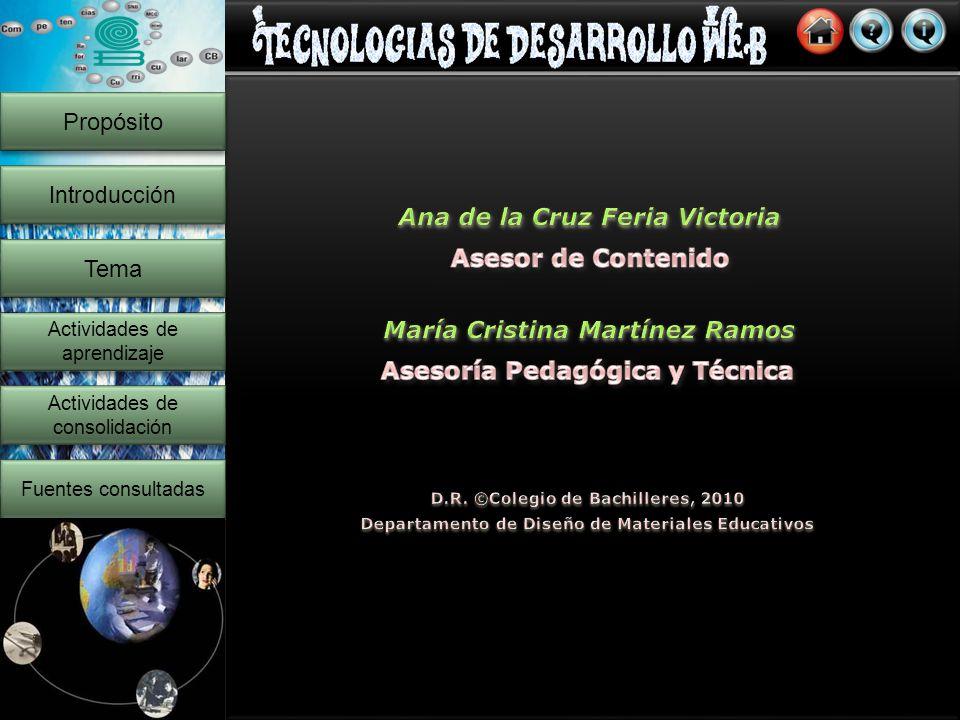 21 Propósito Introducción Actividades de consolidación Actividades de consolidación Fuentes consultadas Copyright 2010 Agicero Solutions | Todos los derechos reservados.