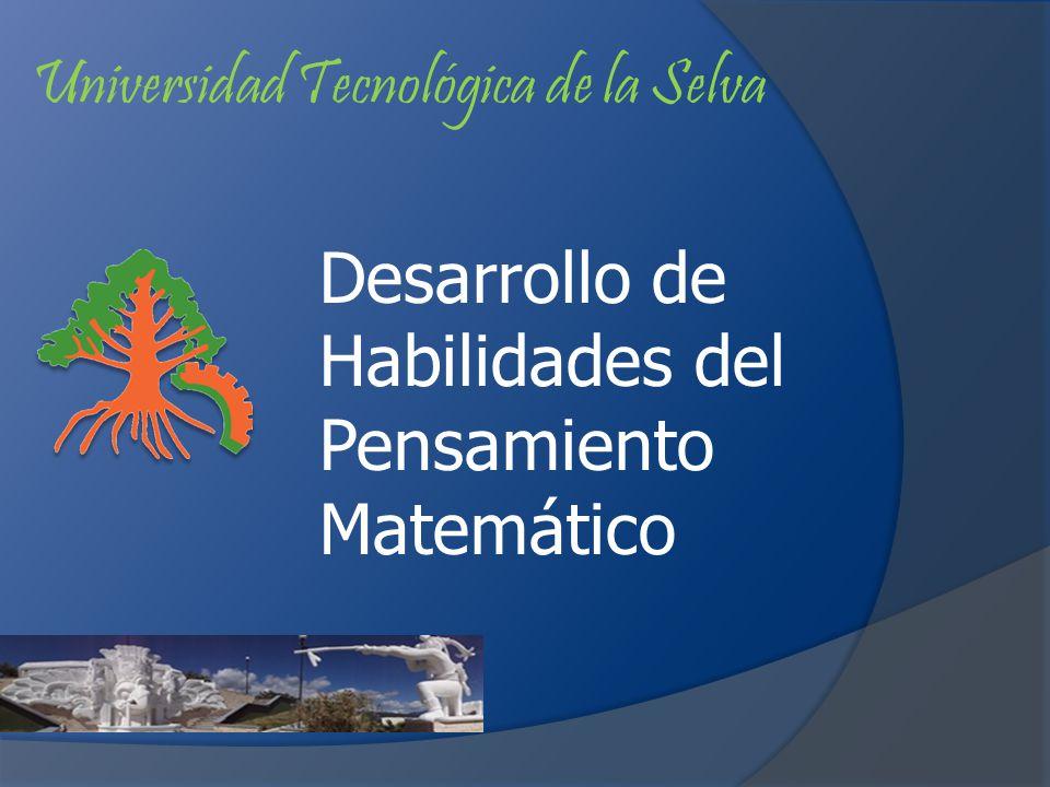 Universidad Tecnológica de la Selva Desarrollo de Habilidades del Pensamiento Matemático