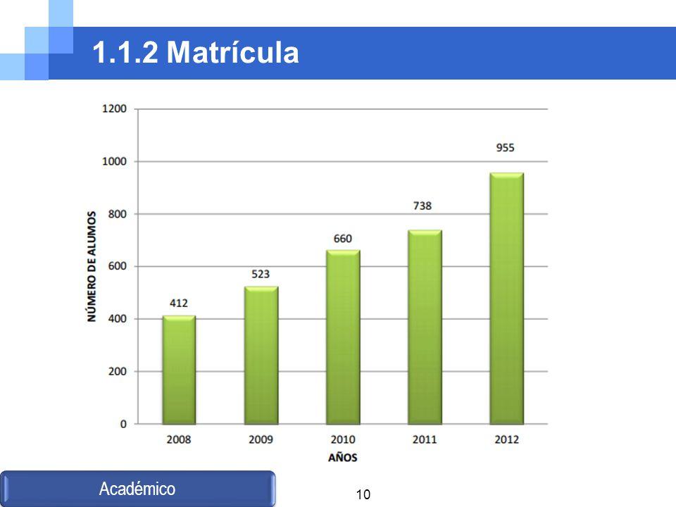 1.1.2 Matrícula Académico 10