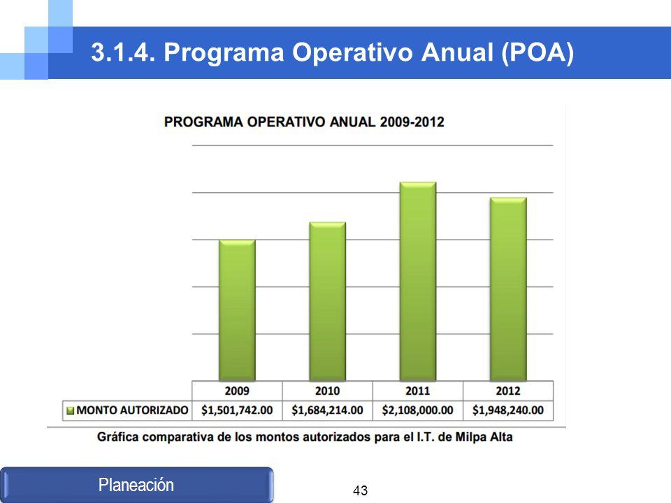 3.1.4. Programa Operativo Anual (POA) Planeación 43