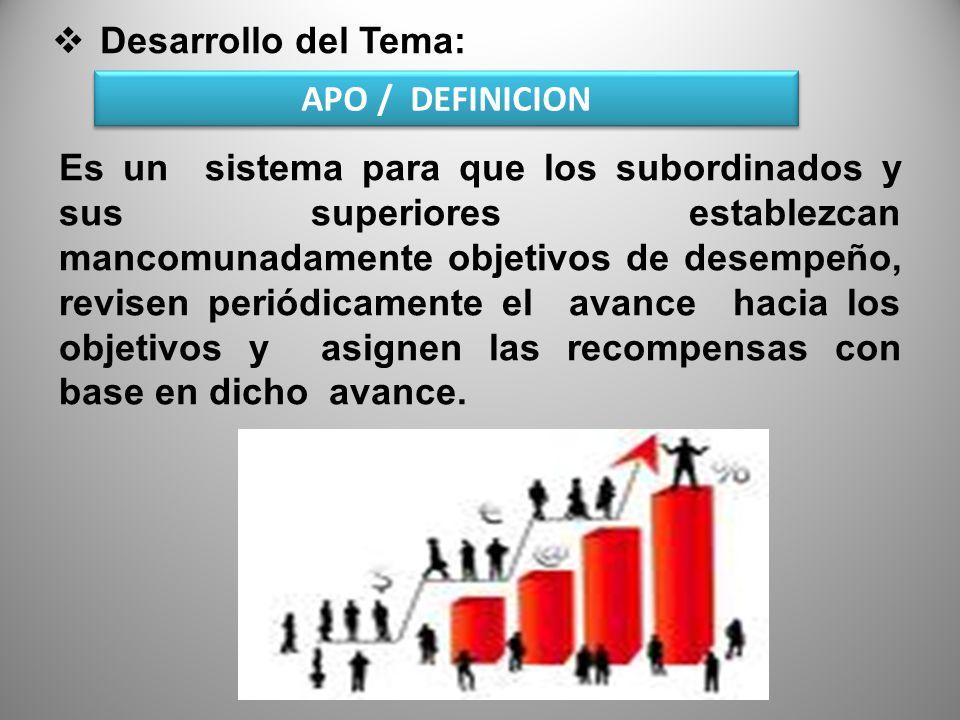 Desarrollo del Tema: A PO Es una forma de pensar, mas que una técnica es una visión que permite la colaboración de todos.