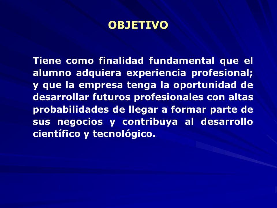 La incorporación temporal al sector productivo y de servicios, donde el estudiante llevará a la práctica los conocimientos adquiridos, a través del de