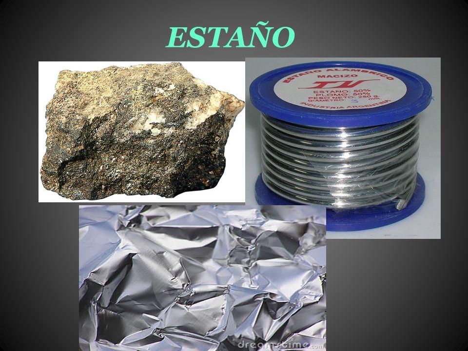 Estaño El estaño, es un metal plateado, maleable, que no se oxida fácilmente con el aire y es resistente a la corrosión cuyo símbolo es Sn (del latín stannum), es un elemento químico de número atómico 50 situado en el grupo 14 de la tabla periódica de los elementos.