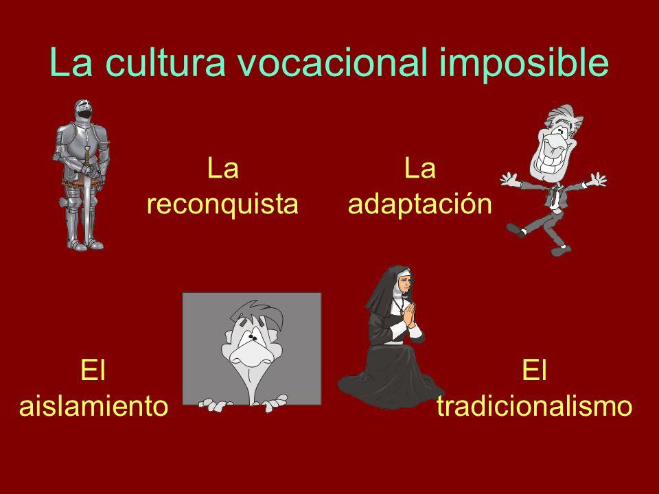 La cultura vocacional imposible La reconquista La adaptación El aislamiento El tradicionalismo