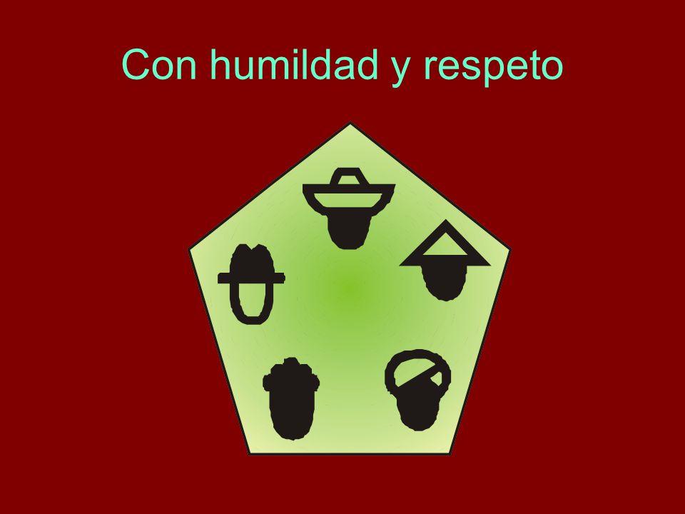 Con humildad y respeto