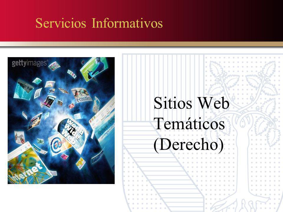 Servicios Informativos Sitios Web Temáticos (Derecho)