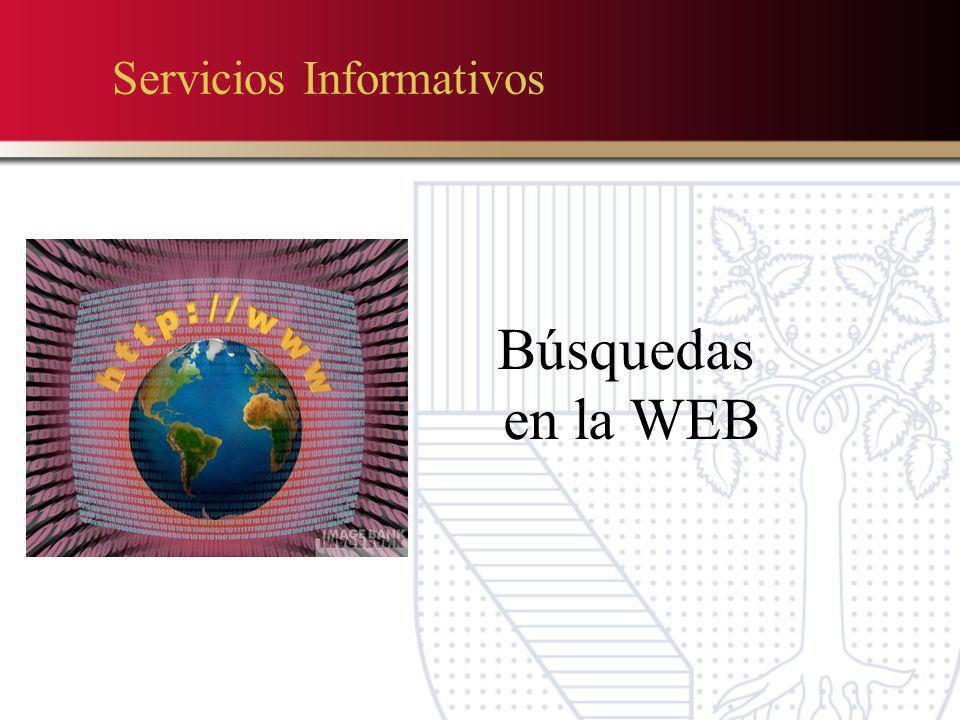 Servicios Informativos Búsquedas en la WEB