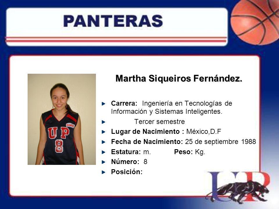 Ma.Guadalupe Martínez Fisher.