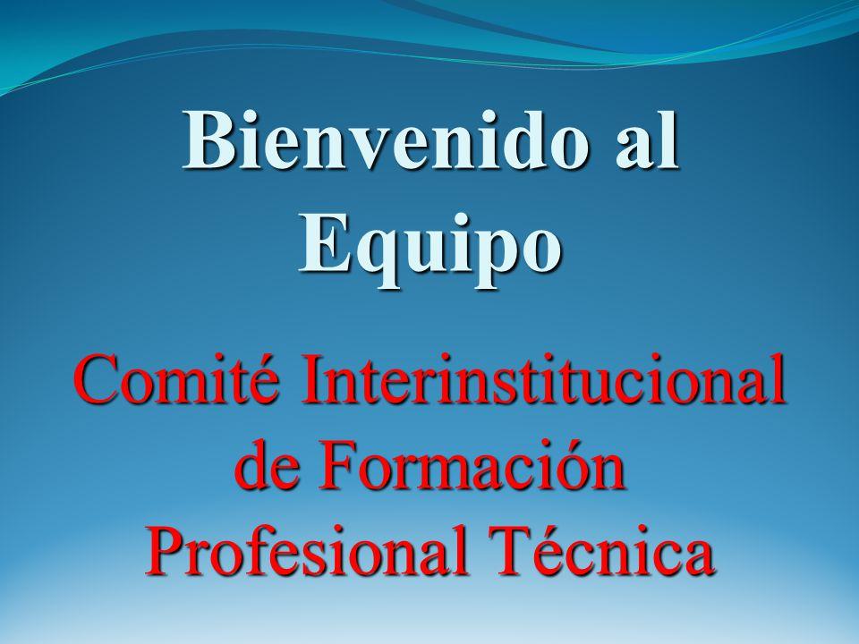 Bienvenido al Equipo Comité Interinstitucional de Formación Profesional Técnica
