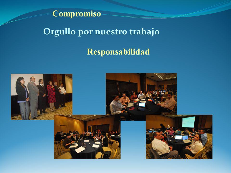 Orgullo por nuestro trabajo Compromiso Responsabilidad