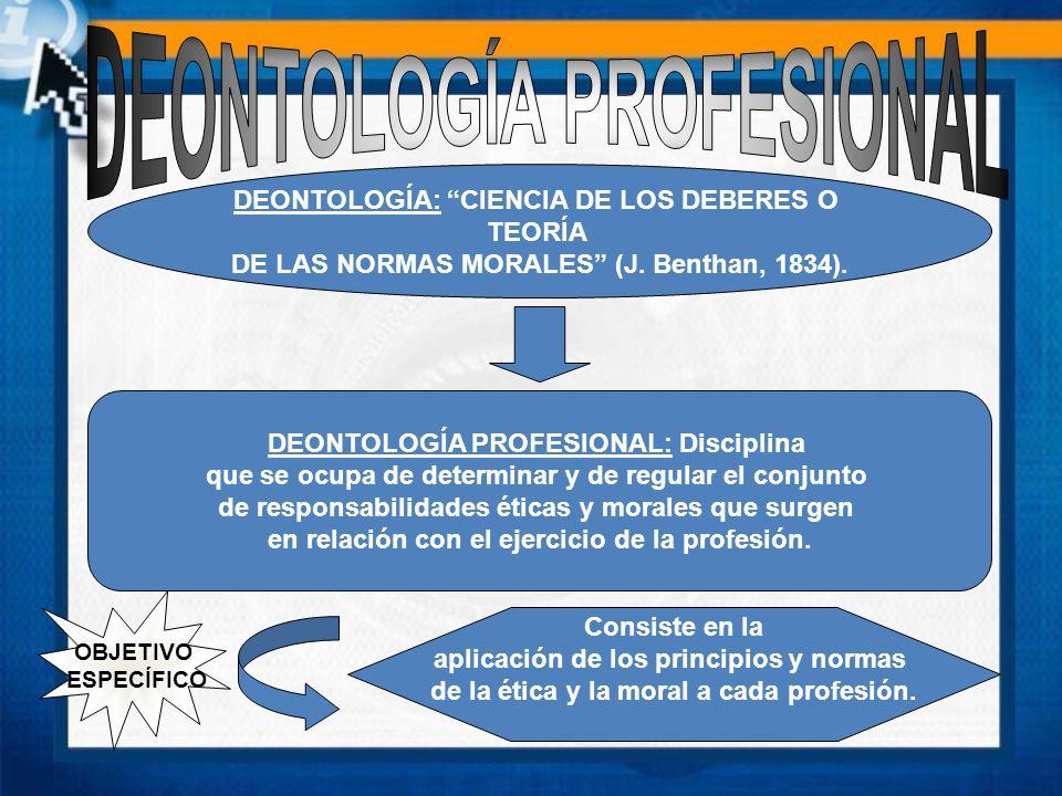 DEONTOLOGÍA: CIENCIA DE LOS DEBERES O TEORÍA DE LAS NORMAS MORALES (J.