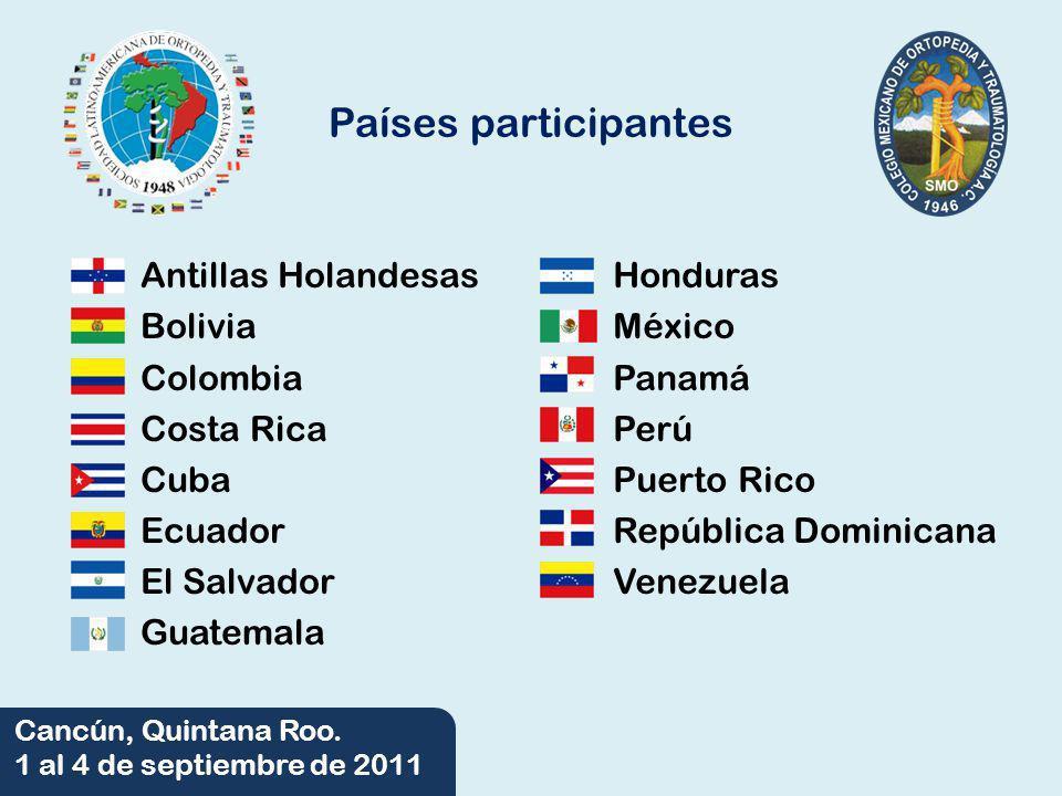 06/06/2014 Cancún, Quintana Roo. 1 al 4 de septiembre de 2011 Países participantes Antillas Holandesas Bolivia Colombia Costa Rica Cuba Ecuador El Sal