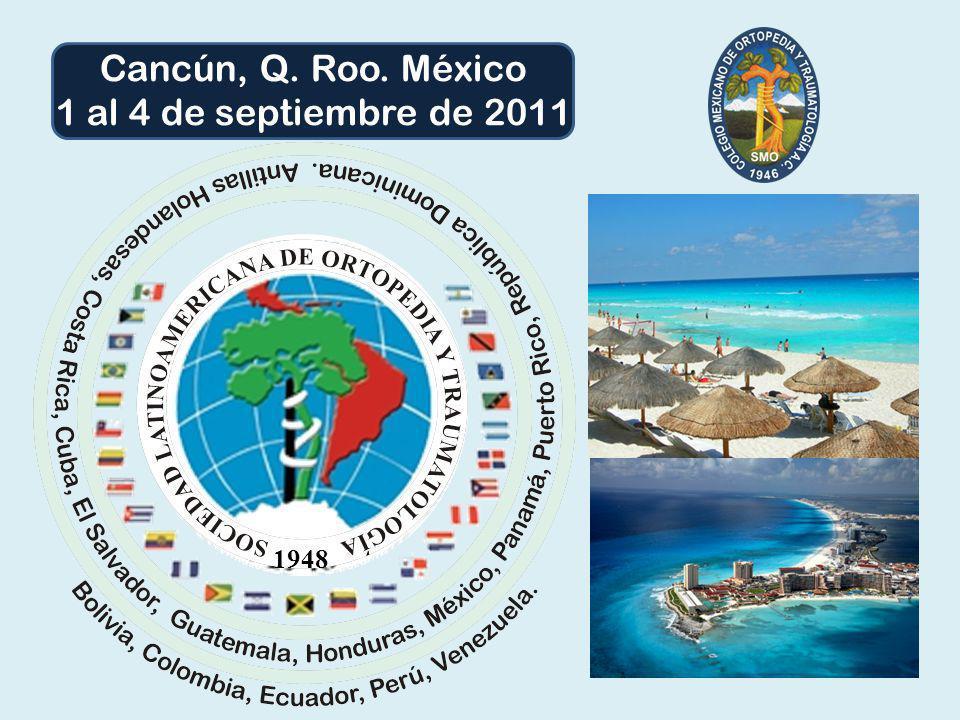 Cancún, Q. Roo. México 1 al 4 de septiembre de 2011 1948