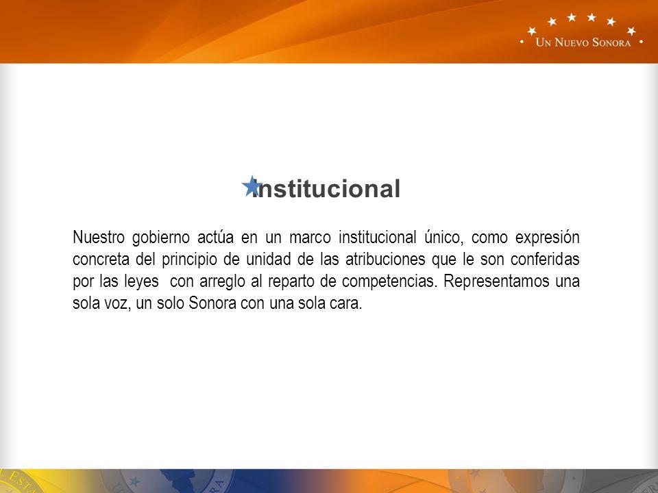 Institucional Nuestro gobierno actúa en un marco institucional único, como expresión concreta del principio de unidad de las atribuciones que le son c