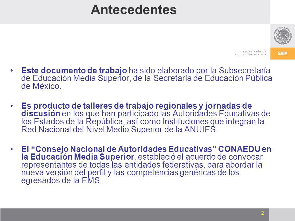 3 Introducción El Marco Curricular Común (MCC) da sustento al SNB y es un eje principal de la Reforma Integral.