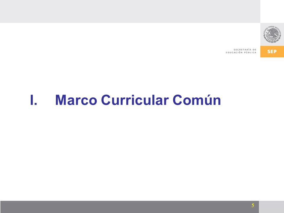 5 I.Marco Curricular Común