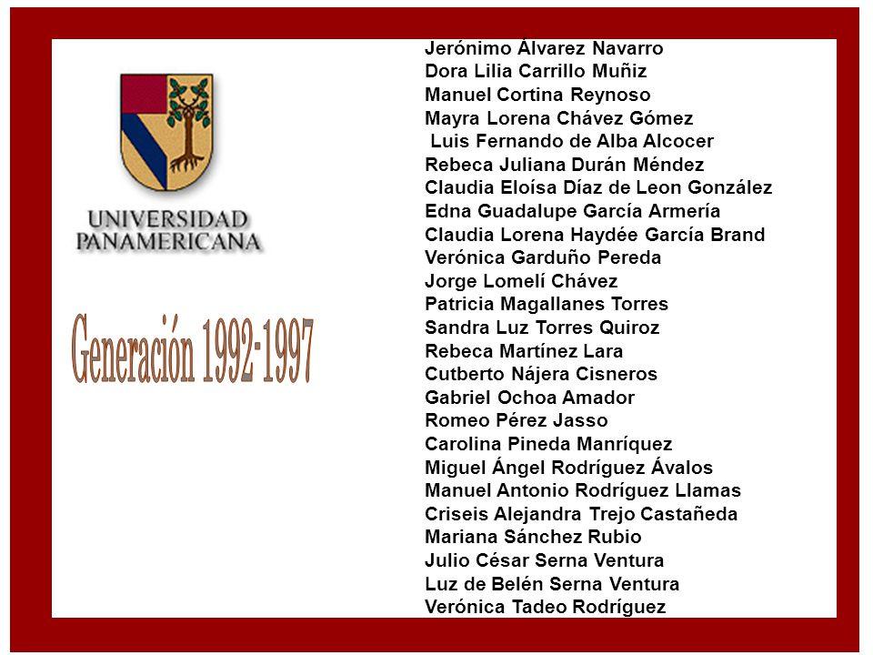 Jerónimo Álvarez Navarro Dora Lilia Carrillo Muñiz Manuel Cortina Reynoso Mayra Lorena Chávez Gómez Luis Fernando de Alba Alcocer Rebeca Juliana Durán