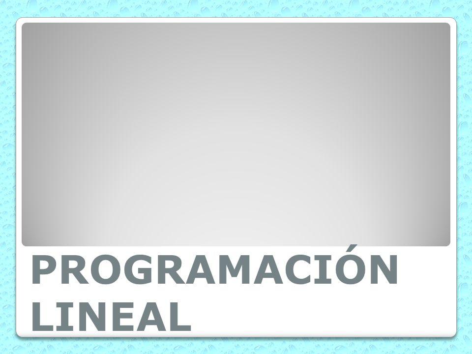 PROGRAMACIÓN LINEAL