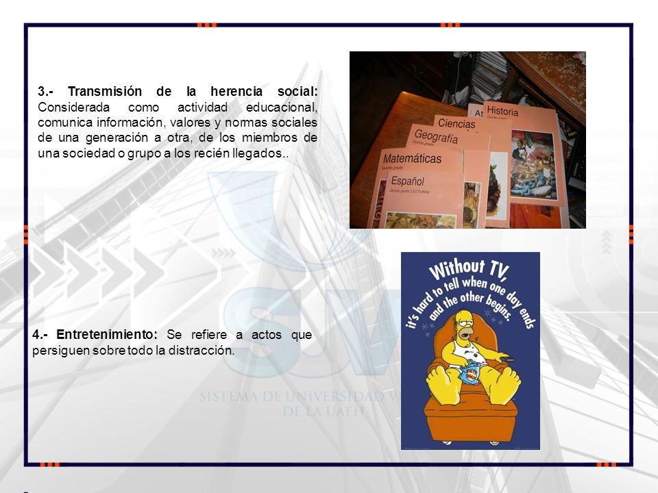 5.- Informativa: Tiene que ver con la transmisión y recepción de la información.
