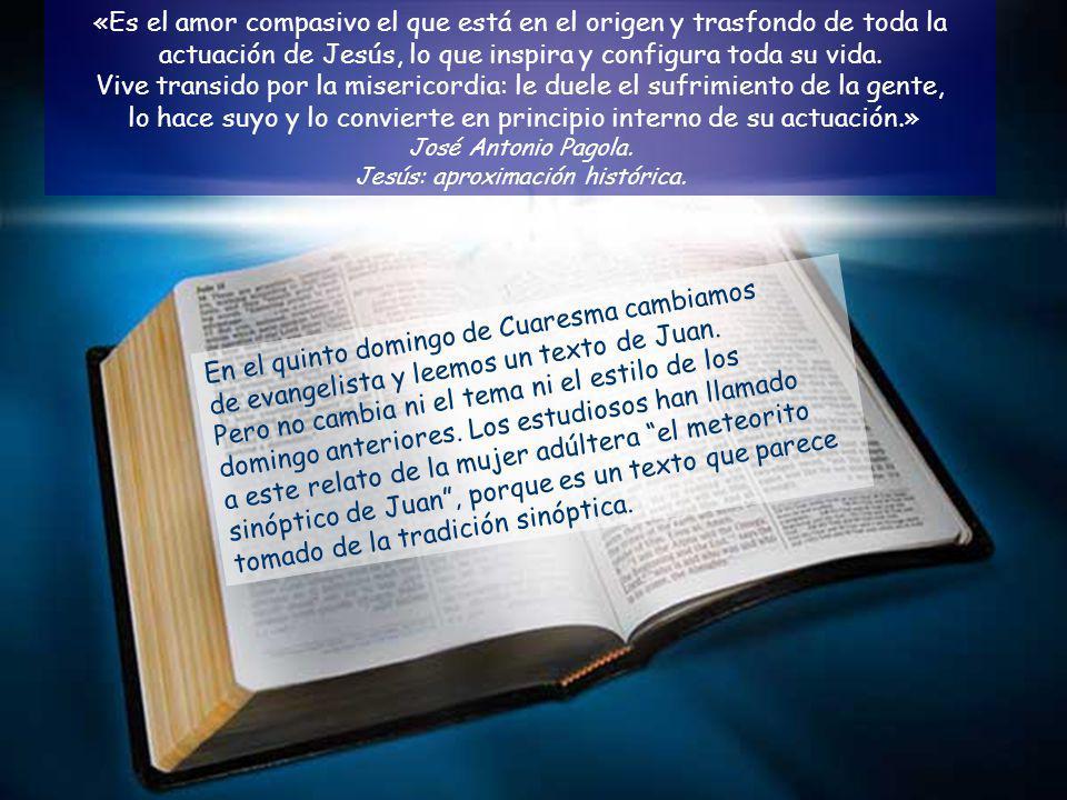 En el quinto domingo de Cuaresma cambiamos de evangelista y leemos un texto de Juan.