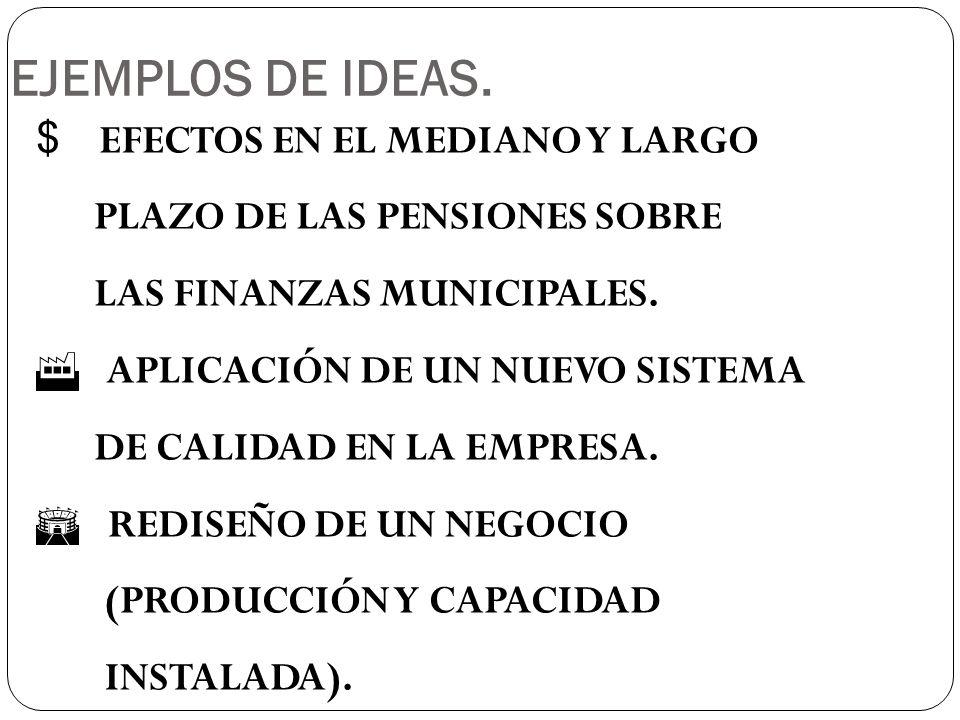$ EFECTOS EN EL MEDIANO Y LARGO PLAZO DE LAS PENSIONES SOBRE LAS FINANZAS MUNICIPALES.