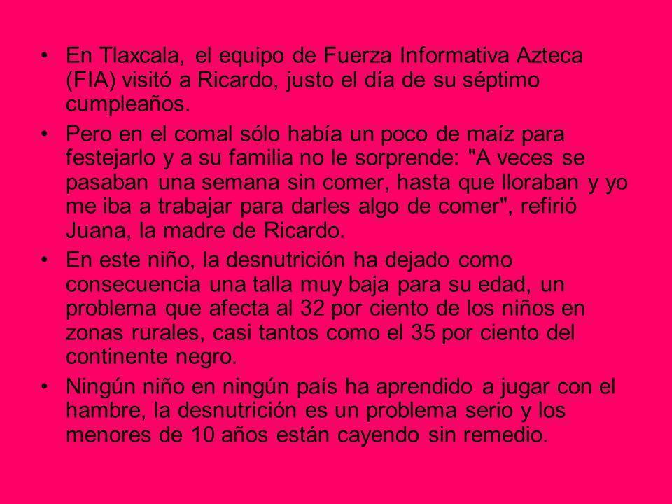 En Tlaxcala, el equipo de Fuerza Informativa Azteca (FIA) visitó a Ricardo, justo el día de su séptimo cumpleaños. Pero en el comal sólo había un poco