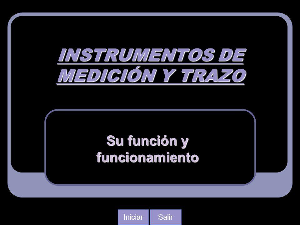 INSTRUMENTOS DE MEDICIÓN Y TRAZO Su función y funcionamiento SalirIniciar