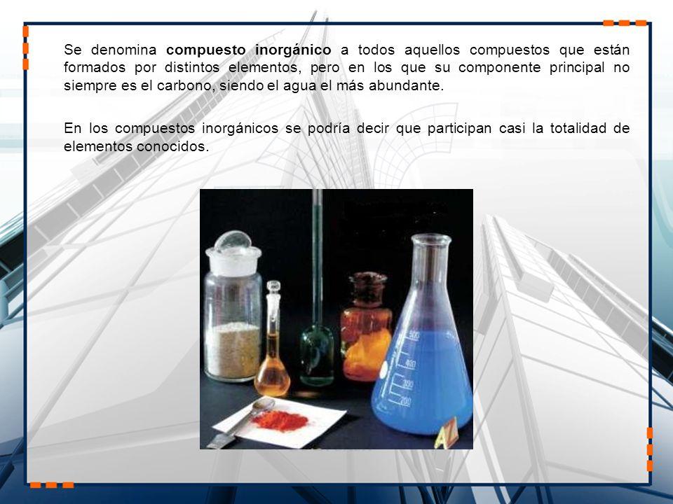 La química inorgánica se encarga del estudio integrado de la formación, composición, estructura y reacciones químicas de los elementos y compuestos inorgánicos (por ejemplo, ácido sulfúrico o carbonato cálcico); es decir, los que no poseen enlaces carbono-hidrógeno, porque éstos pertenecen al campo de la química orgánica.