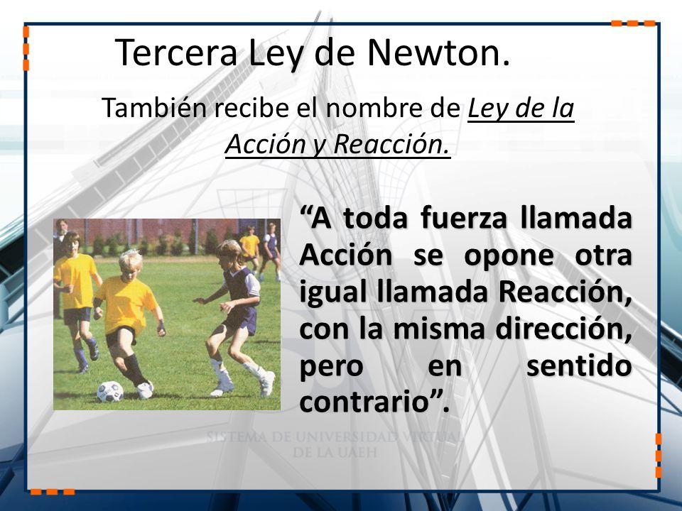 Tercera Ley de Newton.